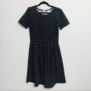 Lularoe Amelia Pocket Dress with Dandelion Print